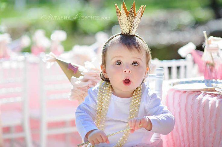 kid portrait on birthday party