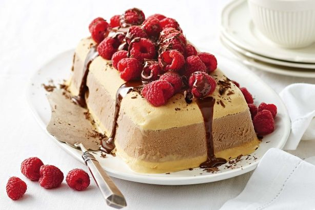 Chocolate and salted caramel ice-cream cake main image