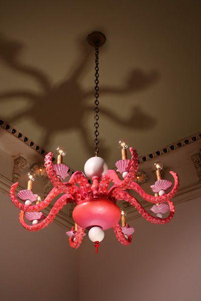 Adam Wallacavage Octopus Chandelier