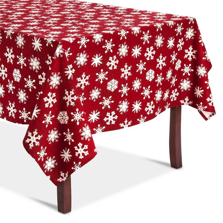 Winter Berry Tablecloth (70 Round) - Threshold, White