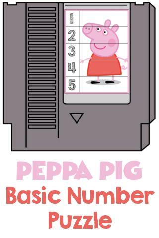 FREE! Peppa Pig Basic Number Game