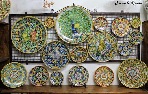 Piatti in ceramica Visitate le nostre pagine Facebok e Google+ Ceramiche Artigianali Ripullo