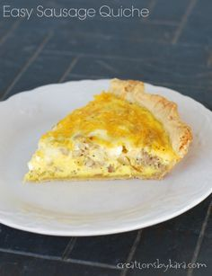 Easy Sausage Quiche- a favorite even with the boys in the family!
