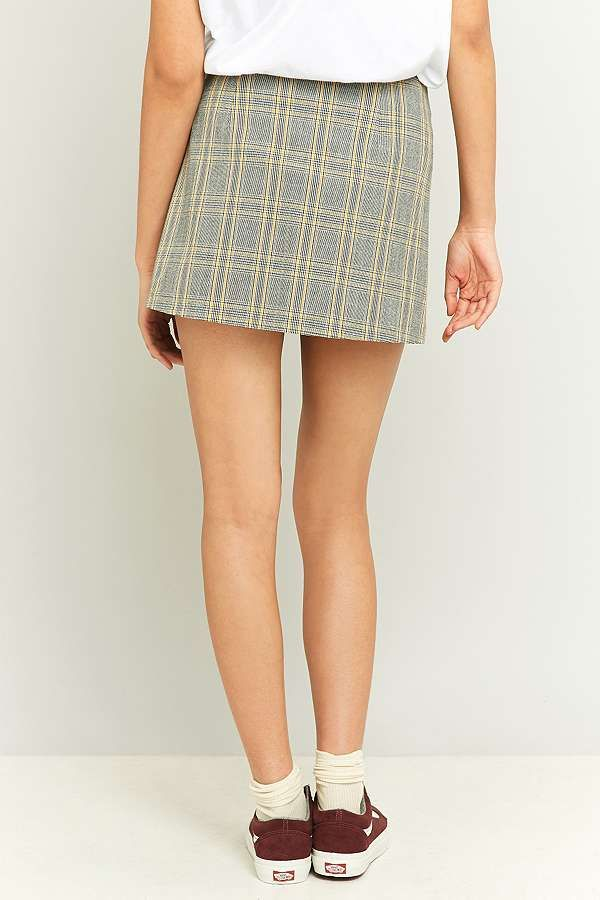 Slide View: 4: Urban Outfitters Scout Yellow Plaid Pelmet Skirt