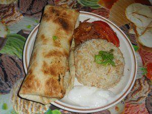 Repas libanais ( pain et riz)