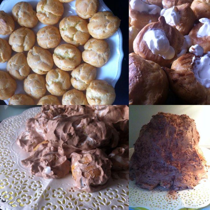 BIANCO E NERO ALLA MESSINESE (Bignè fatti in casa, panna e cacao)