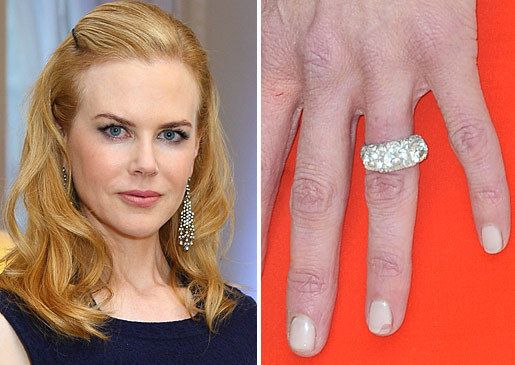 Celebrity Engagement Rings With Wedding Bands