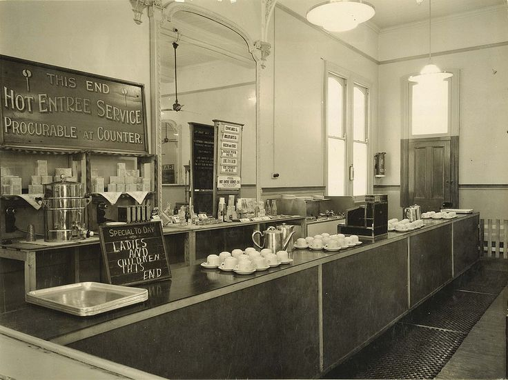 Junee Railway Refreshment Room - showing section of counter