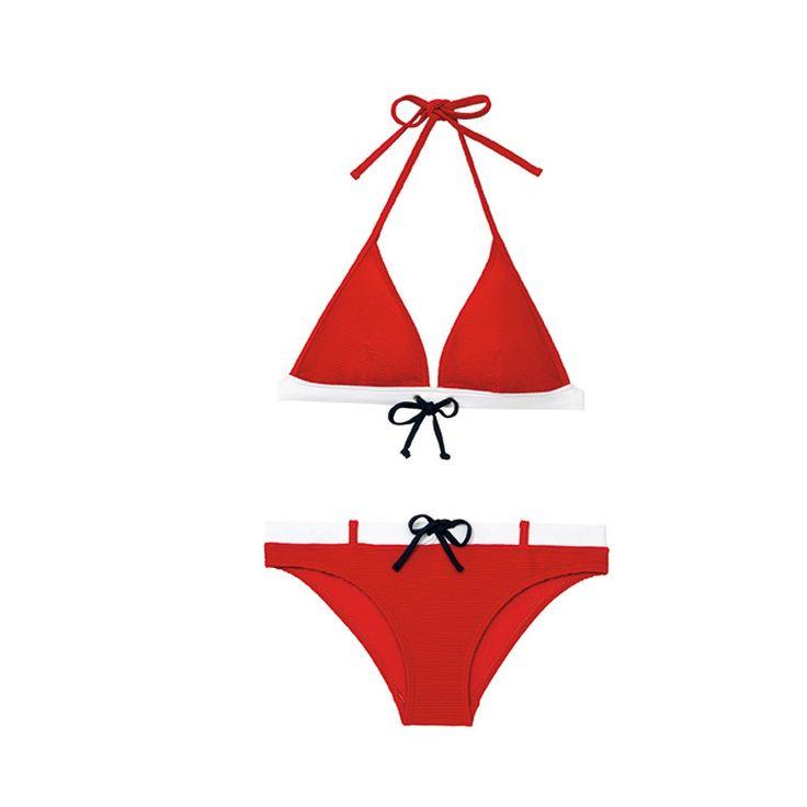 Maillot de bain triangle rouge Monoprix
