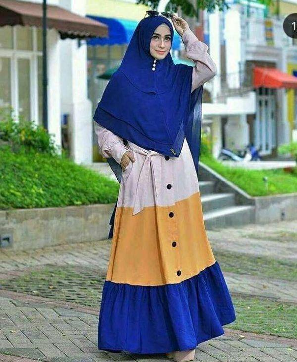 Model Baju Gamis Kain Toyobo Kombinasi Model Pakaian Wanita Model Pakaian Muslim Model Pakaian