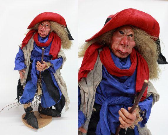 OOAK DOLL WITCH handmade art doll halloween home by LalkowniaDolls
