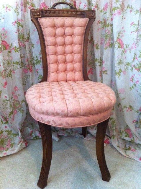 pink vanity boudoir chair