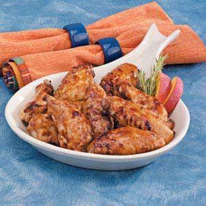 Peachy Chicken Wings Recipe