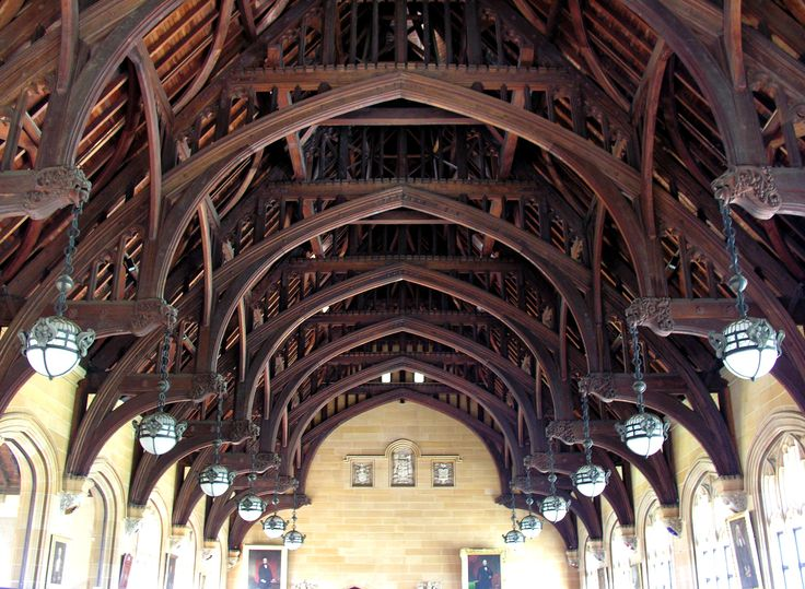 The Maclaurin Hall S Cedar Hammer Beam Roof Has Terminals