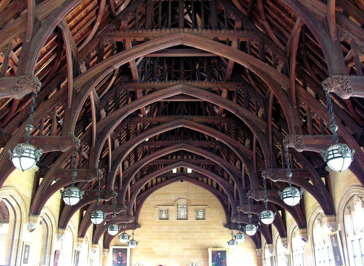 The Maclaurin Hall S Cedar Hammer Beam Roof Has Terminals