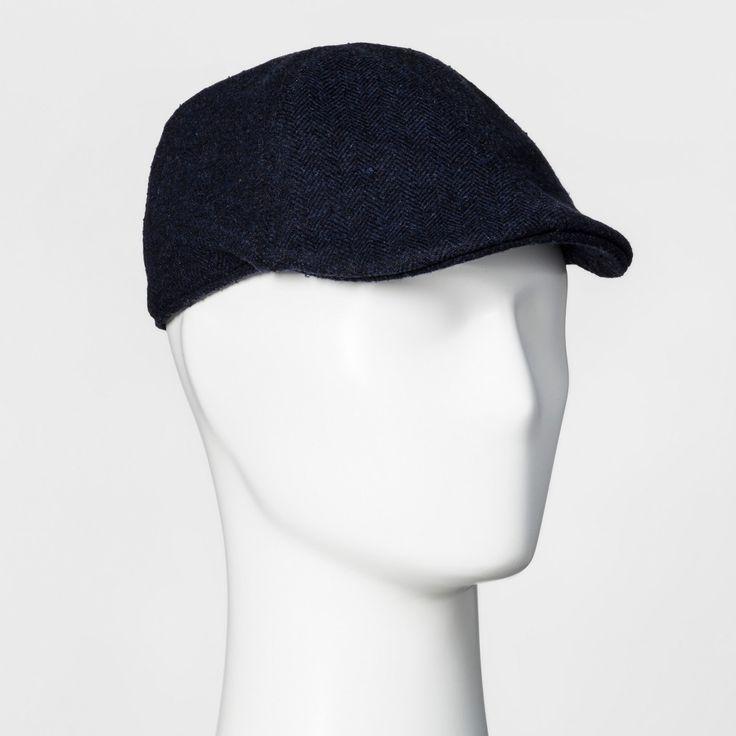 Men's Herringbone Driving Cap - Goodfellow & Co Navy L/XL, Blue