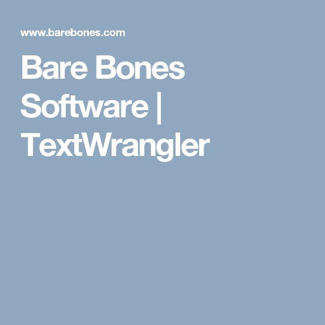Bare Bones Software | TextWrangler