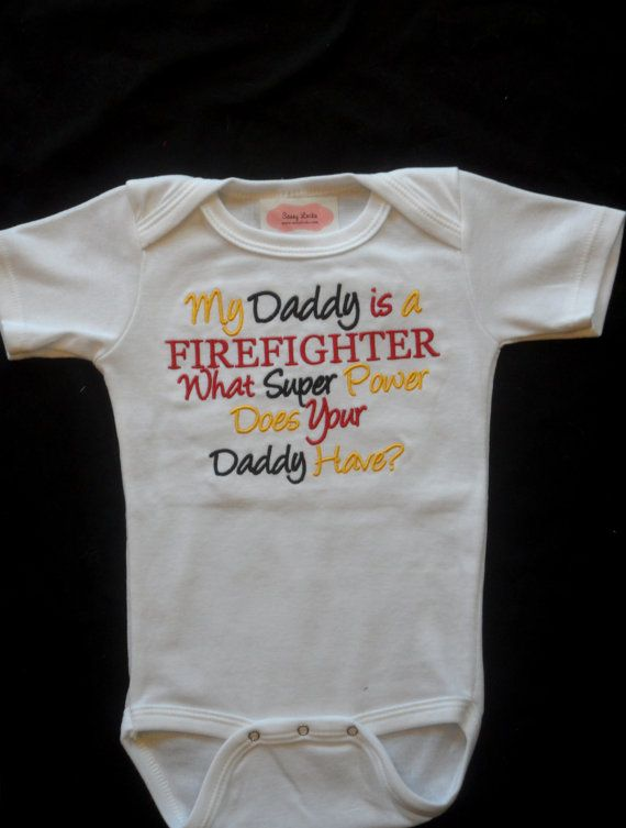 Firefighter Baby Boy Clothes Baby Grirl Clothes by LilMamas