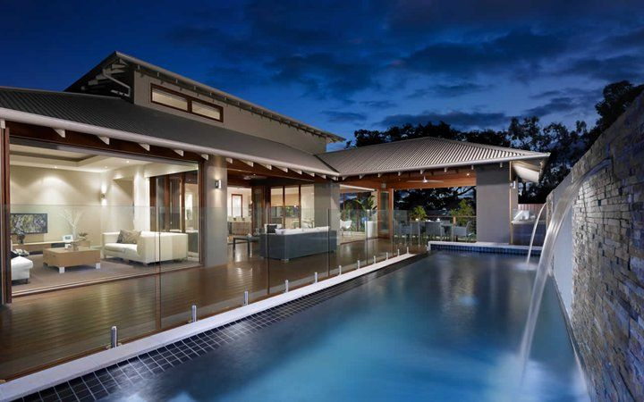 Great house for entertaining guests, like the pool fence- though needs grass between pool and fence.