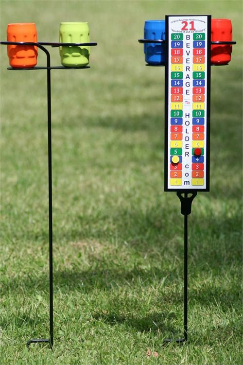 Tall Boy Cornhole Scoreboard and Beverage Holder by AllCornhole, $47.95