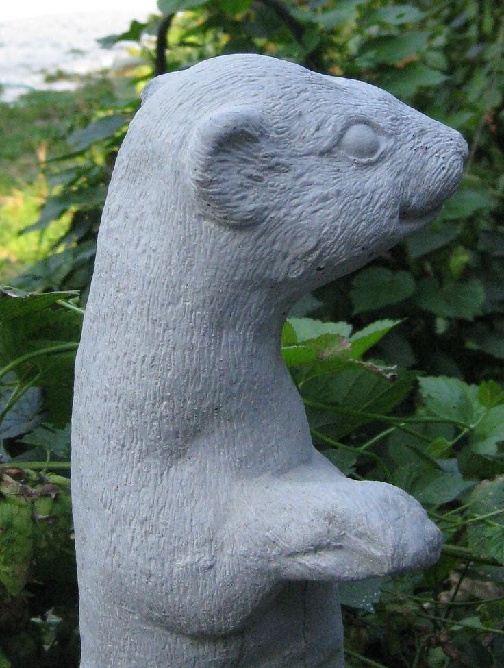 Rainbow Bridge Memorial Stone : Concrete standing ferret statue pets cast stone and pet