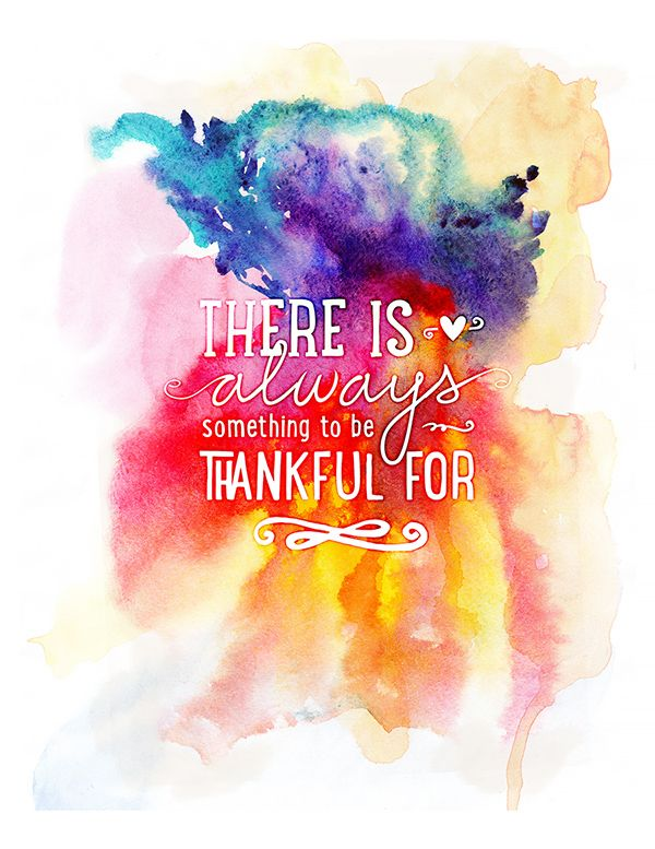 Free Thankful Quote Printable from Mommyish