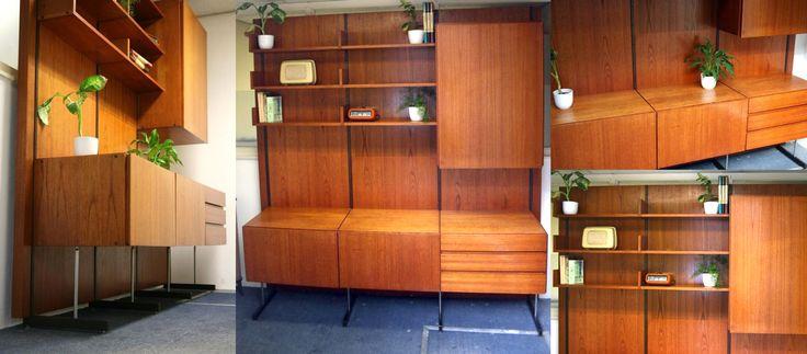retro vintage wandkast kast wandmeubel dressoir jaren 60