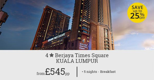Kuala Lumpur offers mesmerising beauty, cultural richness, and classy entertainment. Experience it all with this great holiday deal for Berjaya Times Square. Save up to 25%.