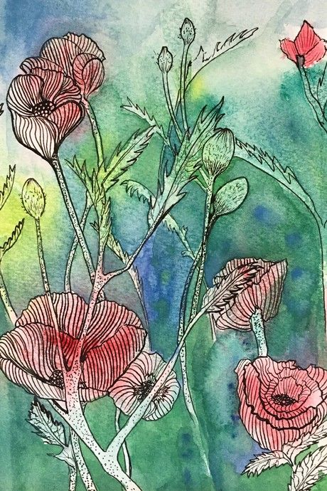 Check out Poppies by BeccaWard  | Original Art | https://www.vangoart.co/beccaward/poppies-a608fe28-aea4-4b7d-a3a3-ccf51bfd9701 @VangoArt