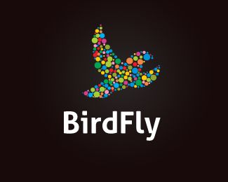 BirdFly Logo design - The logo is designed in vector for highly resizable and printing. Price $250.00