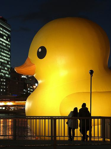 i want go there!That'S FANTASTIC.This is in Japan. And this is a G I A N T rubber ducky.