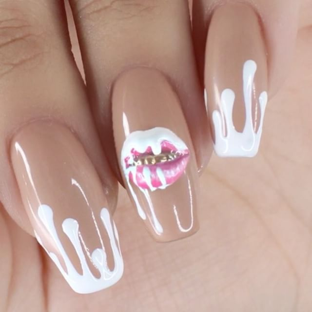 Follow @KingNae  VanityNoFair❣ Kylie Jenner Lip Drip Nails