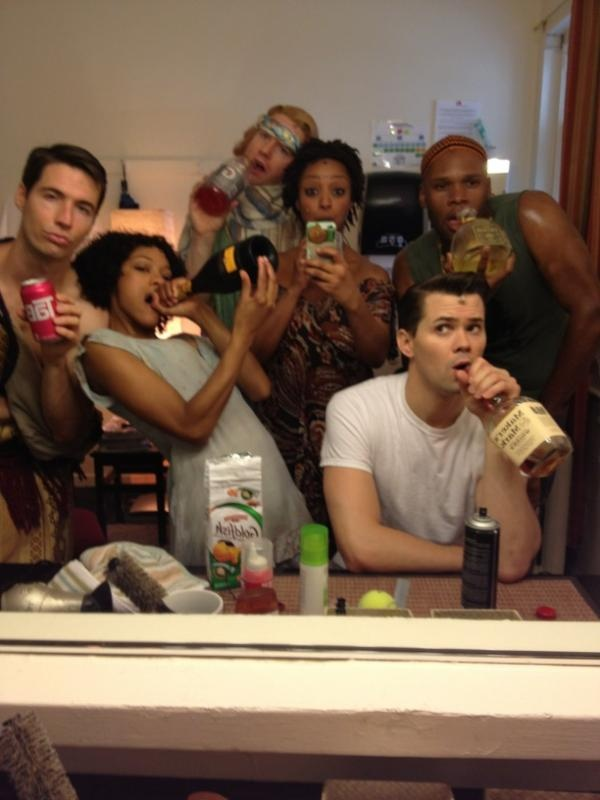backstage; accurate. #BookofMormon
