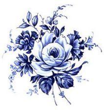 vintage floral delft backgrounds blue - Google Search