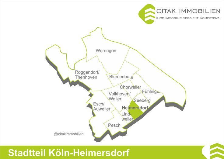 Stadtteil Köln-Heimersdorf Der beschauliche Ort Heimersdorf ist ein Stadtteil des Bezirks Chorweiler. Heimersdorf liegt im Süden von Chorweiler und grenzt an den Bezirk Nippes. Nachbarstadtteile sind Lindweiler im Westen, Seeberg im Osten und Volkhoven/Weiler im Norden.