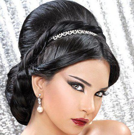 arabic hairstyles | Arabic wedding hair style | Pinterest