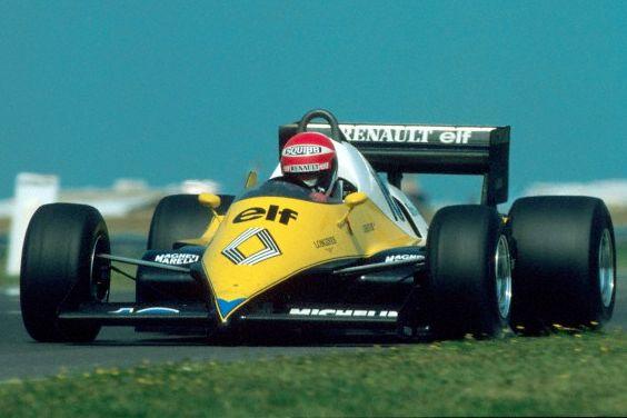 Eddie Cheever in the Renault RE30B