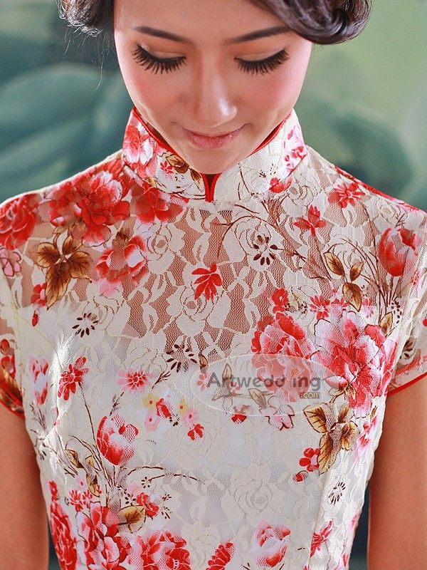 chinese wedding cheongsam lace