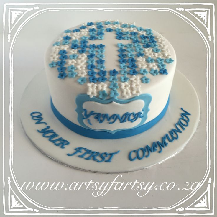 First Communion Cake #firstcommunioncake