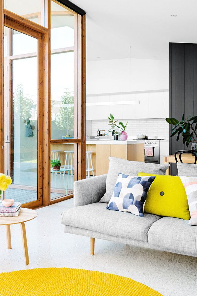 brights with a pop of yellow