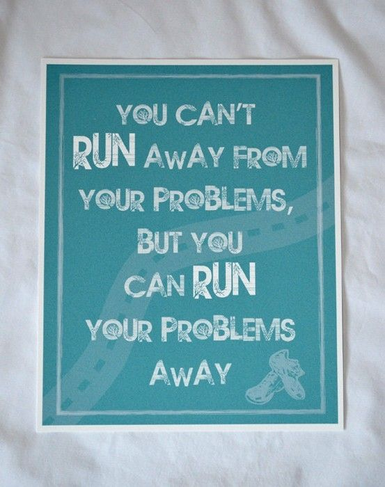 run your problems away by bleu.