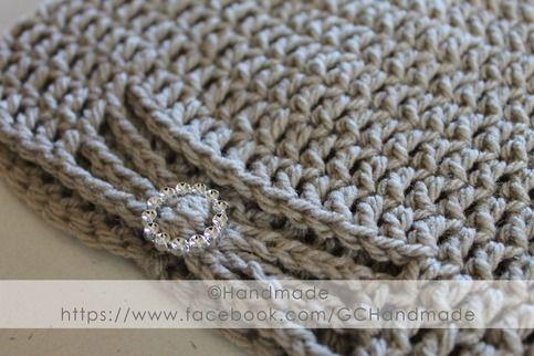 Crochet Beanie with Embellishment - Beige from Handmade #Spotlight40