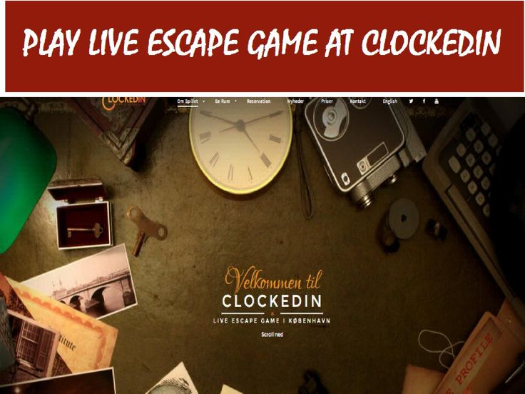 Play #Escape #Game Live With #Clockedin