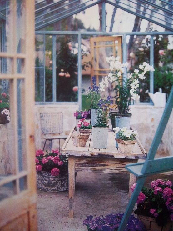 I want my house to have a little green house style art studio just like this.