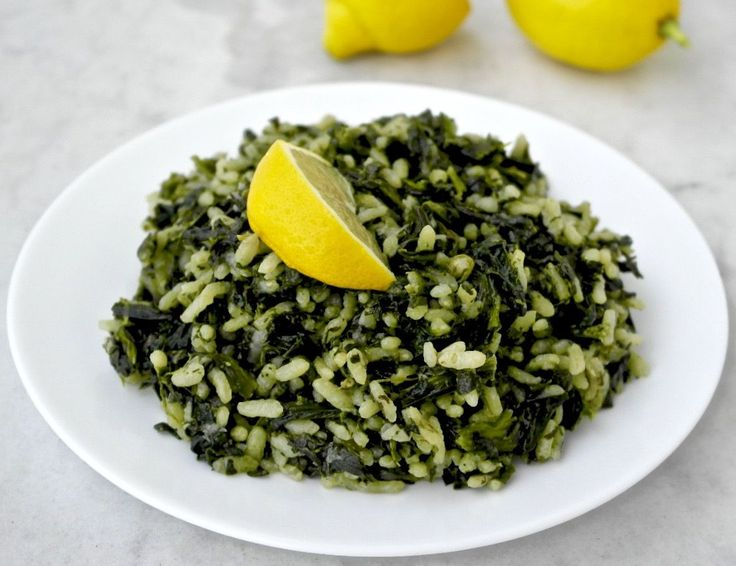 Greek Spinach Rice Spanakorizo