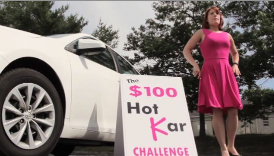 Strangers were offered the chance to participate in the Hot Kar Challenge, which included being locked in the vehicle. If the heat became too unbearable, there was an emergency button. | Adults Were Challenged To Sit In A Hot Car For 10 Minutes And Lost Their Minds