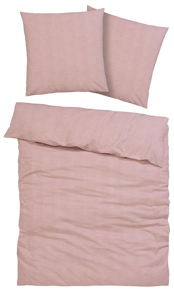 Bettwäsche Melli My Home Selection Wohntrend Dusty Rose Baur