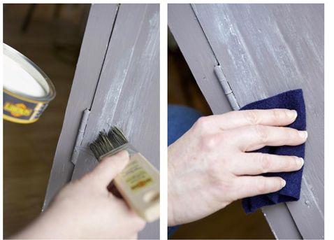 Les 25 meilleures id es concernant peinture la cas ine for Peindre sur du badigeon