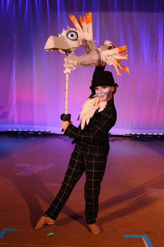 Zazu Lion King Jr. Costume and puppet design angie wood