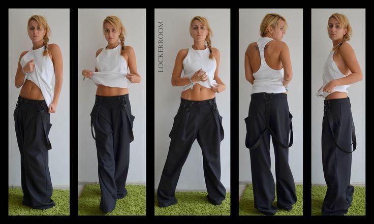 Wide leg trousers /Black Low Crotch Pants/Drop Crotch Pants / Extravagant pants / Black trousers /Black long pants /Low rise pants by ClothesByLockerRoom on Etsy https://www.etsy.com/listing/212261464/wide-leg-trousers-black-low-crotch